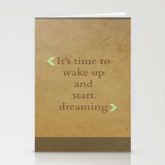 It's time to wake up... Stationery Cards