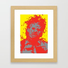 August 18, 1973: Bloodstain Leatherface (color combination L) Framed Art Print