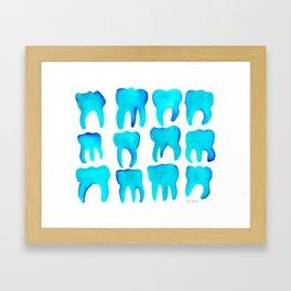 Turquoise Molars Framed Art Print