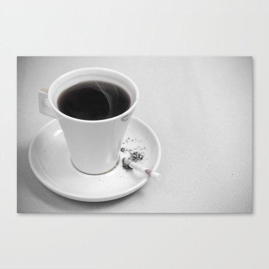 Coffee and Cigarette Canvas Print