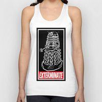 dr who Tank Tops featuring EXTERMINATE     Dalek     Dr. Who by Silvio Ledbetter