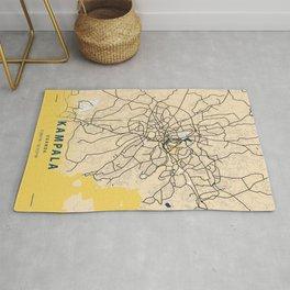 Kampala Yellow City Map Rug