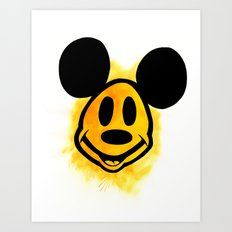Smiley Mickey Art Print