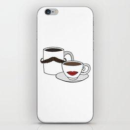 The Caffeinated Couple iPhone Skin
