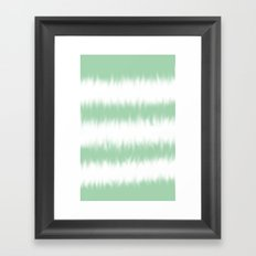 Mint Green Tie Dye Framed Art Print