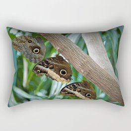 Butterfly Triplets by Reay of Light Rectangular Pillow