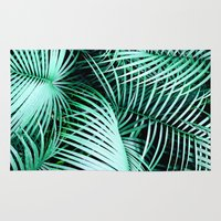 palms Area & Throw Rugs featuring Palms by Karen Hofstetter