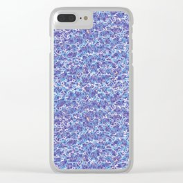 Cool blue abstract thread design Clear iPhone Case