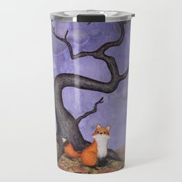the rainy fox Travel Mug