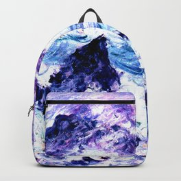 Monet : Storm At Belle Ile Vibrant Backpack