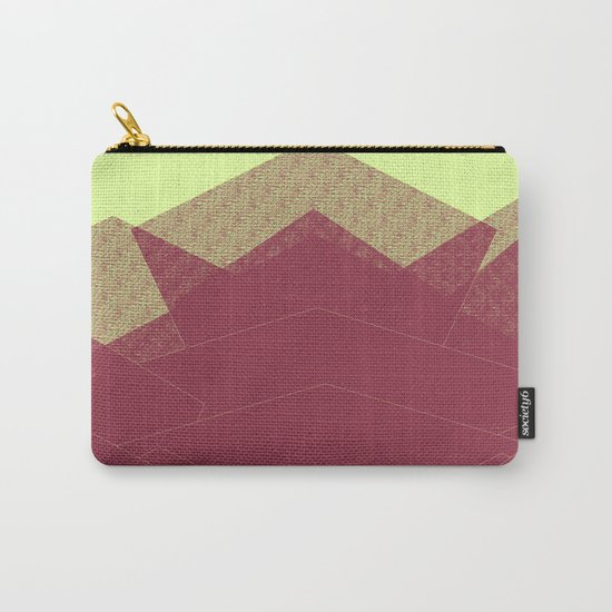 Autumn Red Burgundy Mountain Abstract Carry-All Pouch