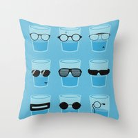 glasses Throw Pillows featuring Glasses by Zach Terrell