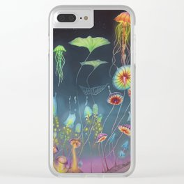 Lights of the Mushroom Forest Clear iPhone Case