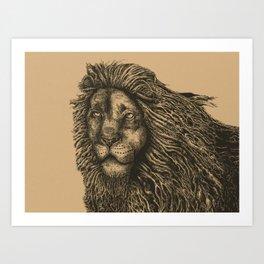 Male Mane Art Print