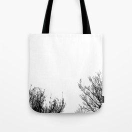 Black Trees  Tote Bag
