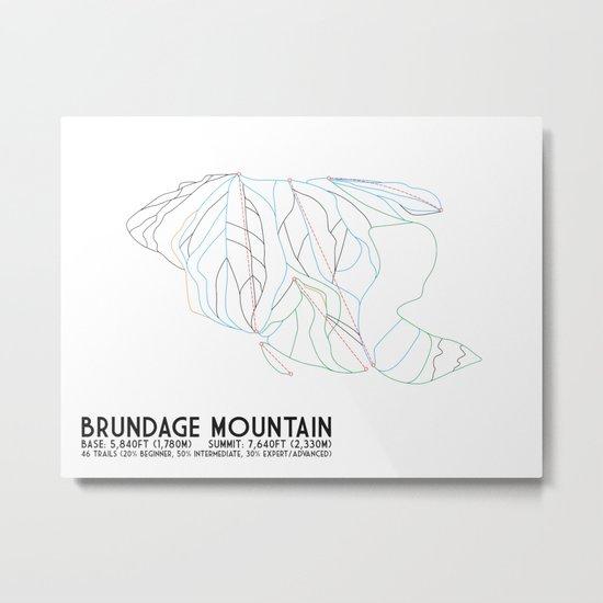Brundage Mountain, ID - Minimalist Trial Art by circlesquarediamond