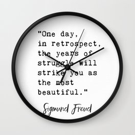 Sigmund Freud quote Wall Clock