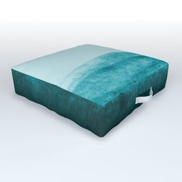 Aqua Watercolor Tide Outdoor Floor Cushion