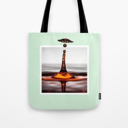 Droplet explosion with 3D pop out of frame effect Tote Bag