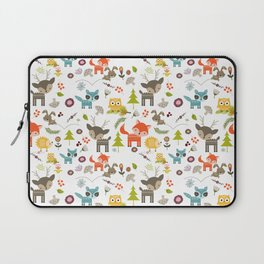 Cute Woodland Creatures Pattern Laptop Sleeve
