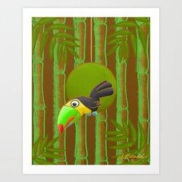 Inquisitive Toucan! Art Print