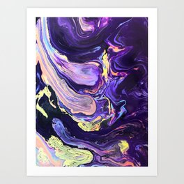 Pooling Paint 4 Art Print