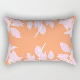 Tangerine Ficus Rectangular Pillow
