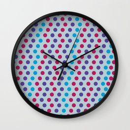Noelia dots blue Wall Clock