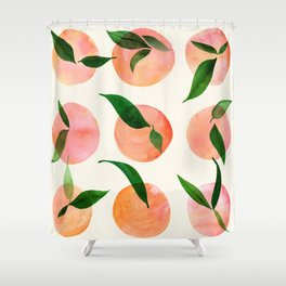 Abstract Orchard / Watercolor Fruit Shower Curtain