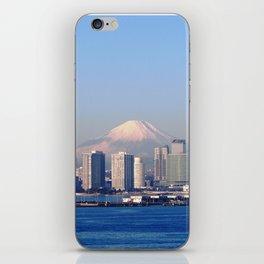 Mount Fuji from Yokohama City iPhone Skin