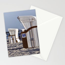 White Beach Chairs on the Isle of Ruegen Stationery Cards