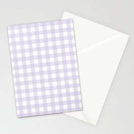 Lilac gingham pattern Stationery Cards
