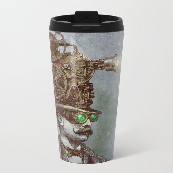 The Projectionist (colour option) Metal Travel Mug