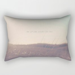 Summer Not All Who Wander Are Lost  Rectangular Pillow