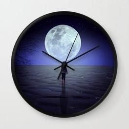 Moon alk Wall Clock