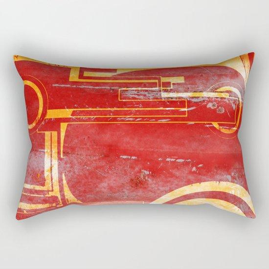 Shoot at the Red Rectangular Pillow