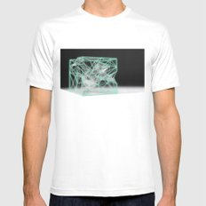 neon cube Mens Fitted Tee MEDIUM White