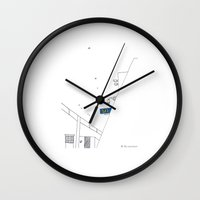 seoul Wall Clocks featuring SEOUL MOMENT_01 by By-EunEun