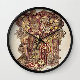 Book Of Kells Chi Rho Page Wall Clock
