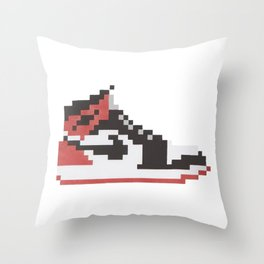 Michael Air Jordan 1 Pixel Blacktoe Chicago Rookie of the Year Throw Pillow