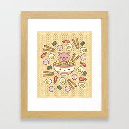 Pig-Chan Ramen Soak Framed Art Print