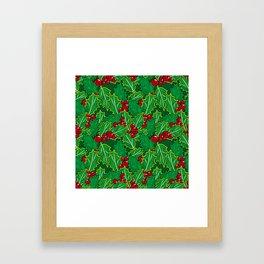 Holly  pattern Framed Art Print