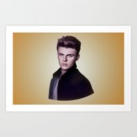 nan lawson Art Prints featuring Joel Peat (Lawson) by Clara J Aira