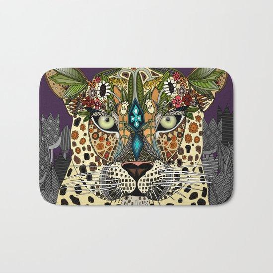 leopard queen Bath Mat