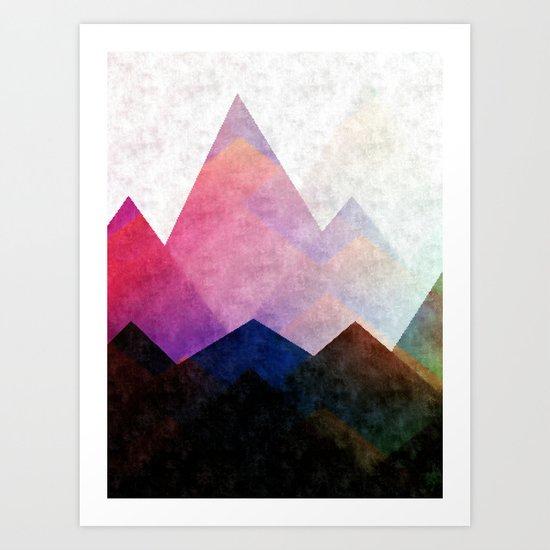 Fading Peaks Art Print