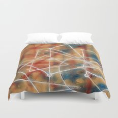 abstract lines - structure of soul  Duvet Cover