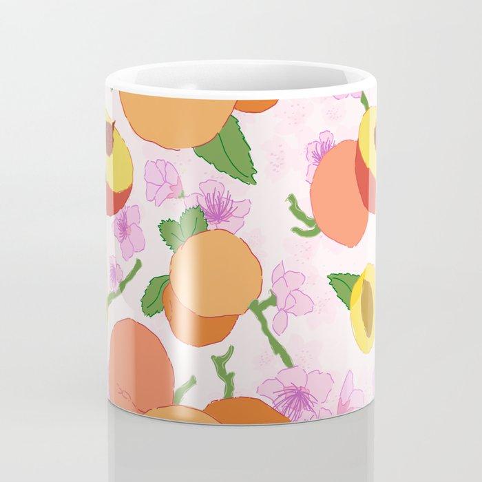 Peach Blossom Floral Coffee Mug