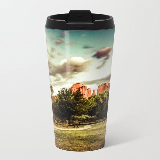 Southwest Chimney Rock Vortex Sedona Arizona Metal Travel Mug