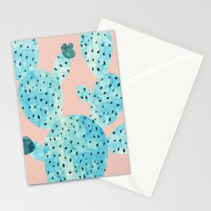 Watercolor of cacti Stationery Cards