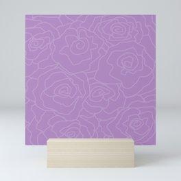 Lavender Dreams Roses - Medium with Light Outline Mini Art Print